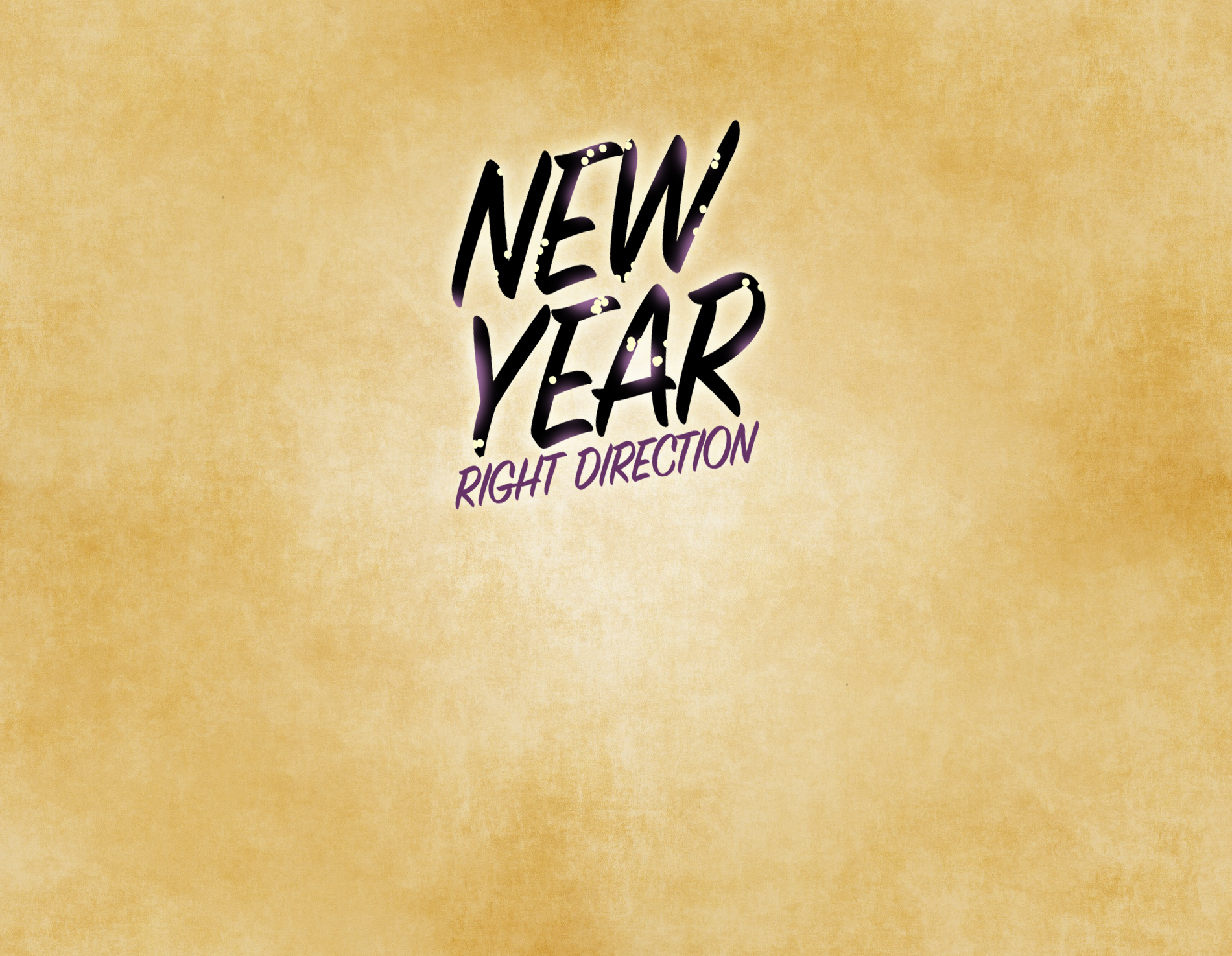 New Year – Right Direction