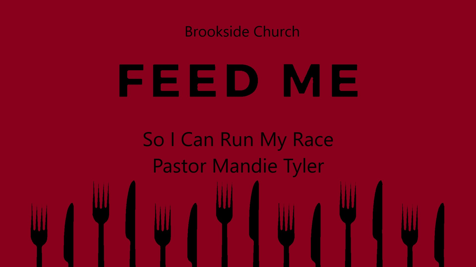 Feed Me (So I Can Run My Race)